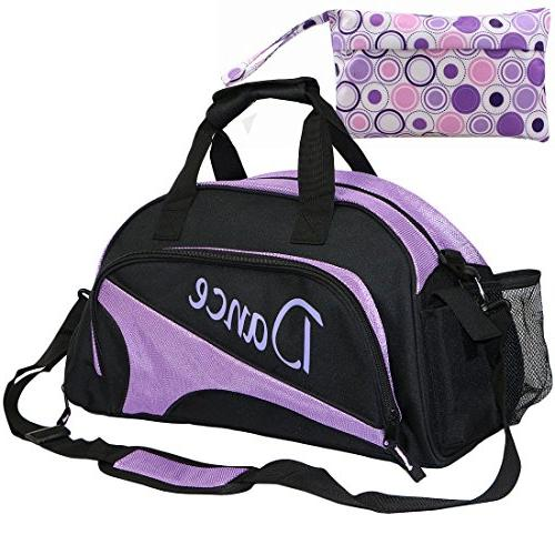 Girl's Womens Ballet Dance Sports Gym Duffel Bag Travel Carr