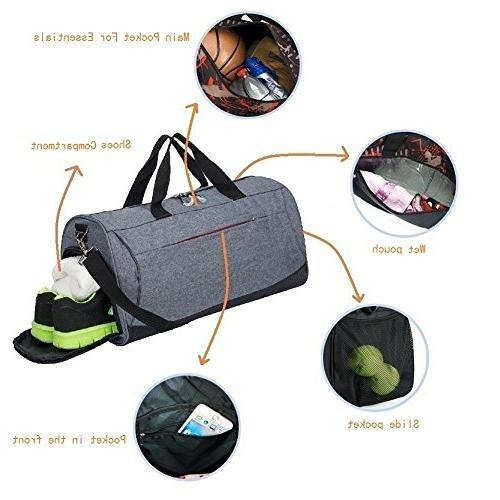 Sports Bag Shoes Compartment and Women