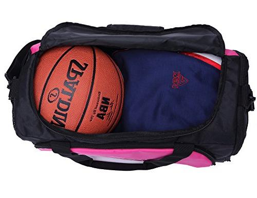 MIER Gym Sports Bag and Women with Compartment, 18inch