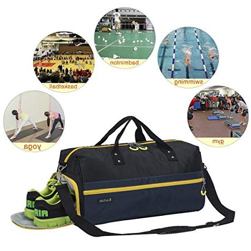 Kuston Sports Gym with Shoes Duffel