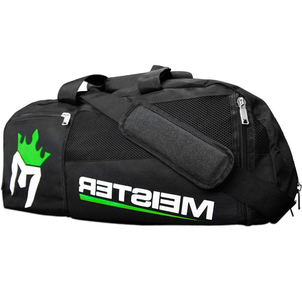 Black Sports MMA Duffle CARRY-ALL LARGE GYM BAG MEISTER CONVERTIBLE BACKPACK