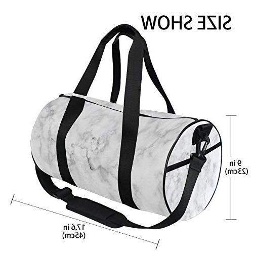 Marble Duffel Lightweight Canvas Bags