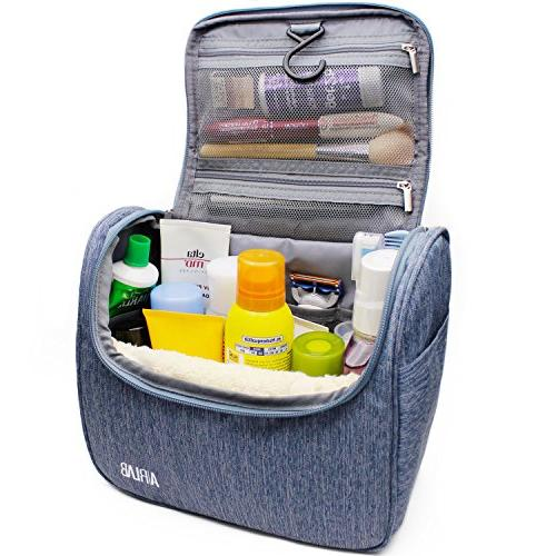 hanging toiletry bag airlab large cosmetic handle hook trave