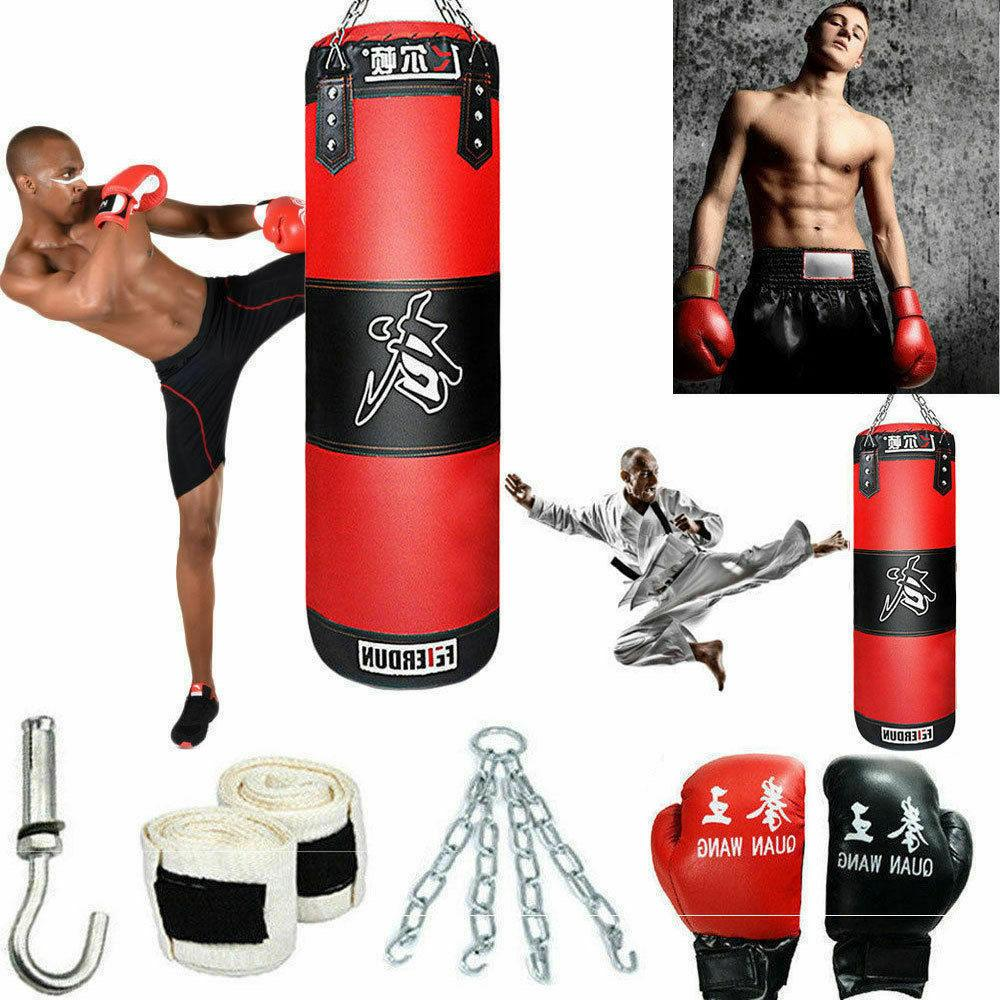 heavy boxing punching bag training gloves speed