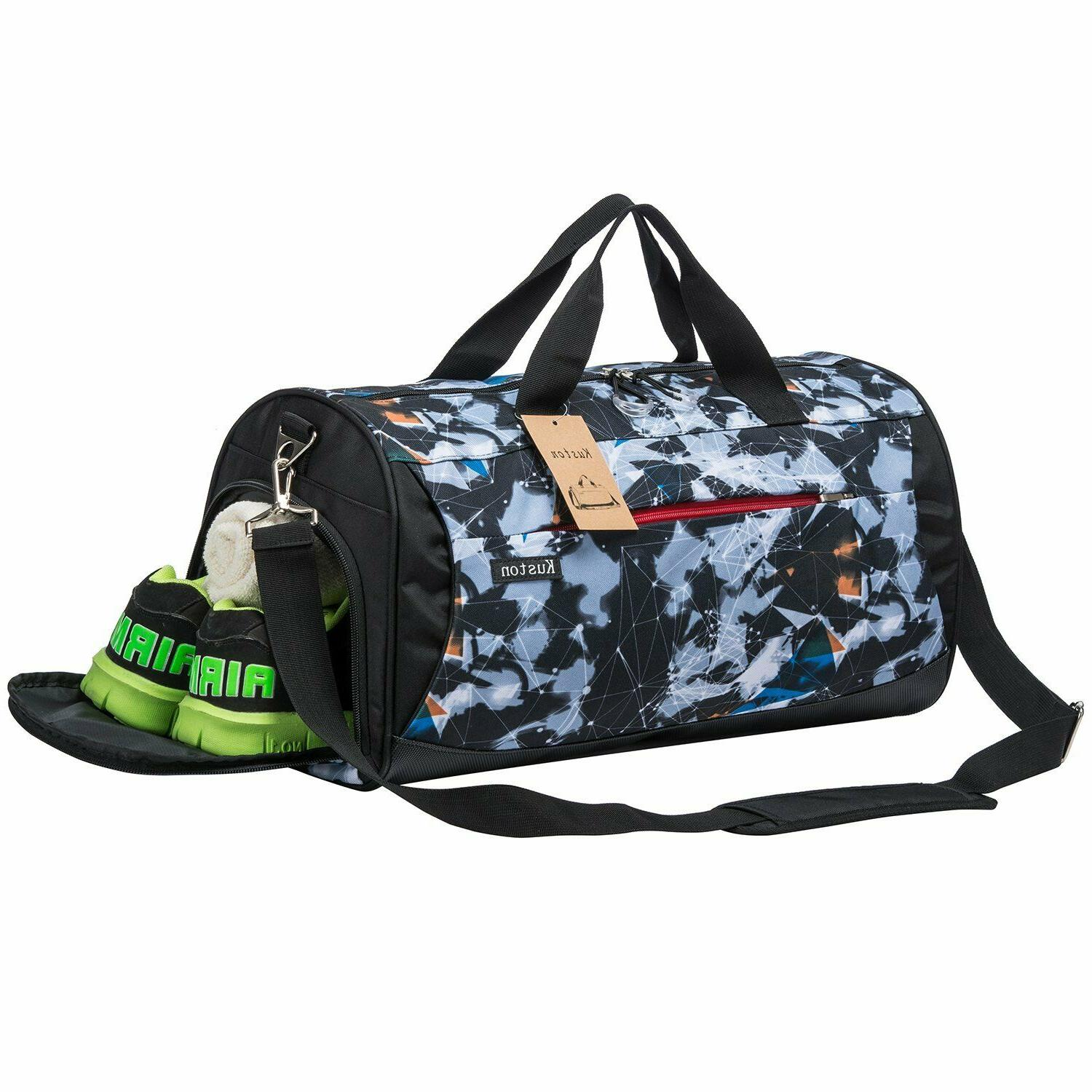 Kuston Gym with Shoes Compartment Duffel Men and