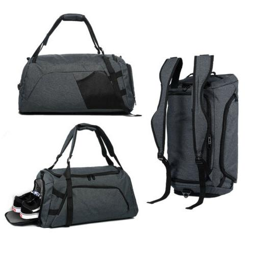 Large Gym Duffel Bag Shoe Compartment Hand Luggage