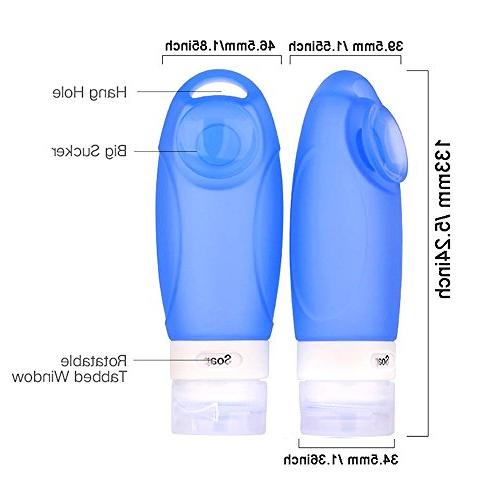 d12e57dd2e49 INNERNEED Leakproof FDA Silicone Travel Bottles Set Portable