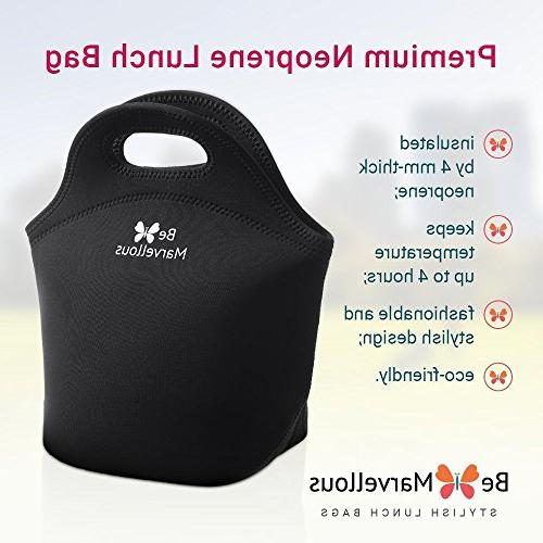 Neoprene Box for Girls Teens Adults to School - Work Office - Large Best Black