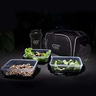 Meal Insulated Lunch Bag Gym Bag Black