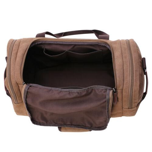 Canvas Men's Gym Duffle Strap Tote Luggage