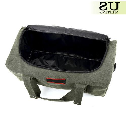Men's Military Leather Gym Duffle Travel Handbag