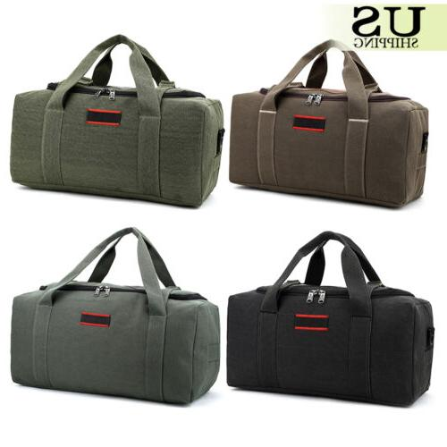 Men's Canvas Gym Duffle Shoulder Travel Luggage