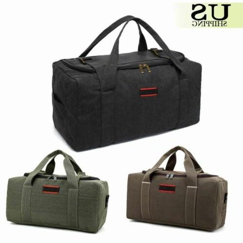 men s military canvas leather gym duffle
