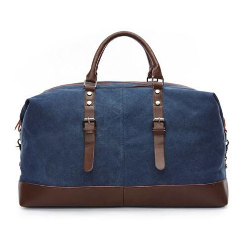 Vintage Canvas Travel Duffle Bag