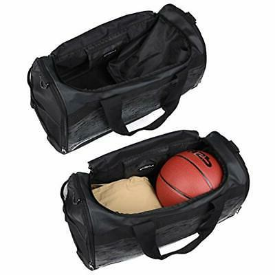 MIER 20 Gym Bag Compartment Men Duffel Black Sports