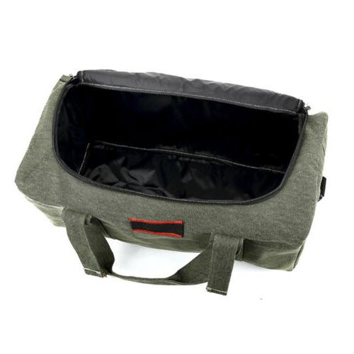 Military Canvas Gym Bag Travel Handbag