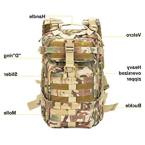 XWLSPORT Tactical Small Pack Military Camping Hiking Bag Travel Gym Carrier