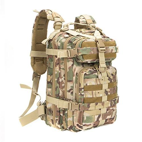 XWLSPORT Military Tactical Backpack Army Small Assault Pack Military Camping Hiking Trekking Bag School Travel Gym Carrier