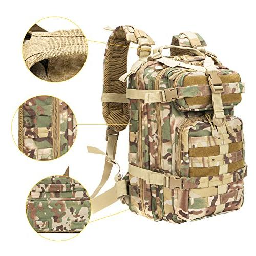 XWLSPORT Military Tactical Pack Camping Hiking Bag School Travel Carrier