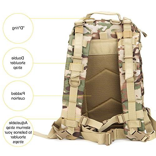 XWLSPORT Military Backpack Army Pack Military Hiking School Travel Carrier