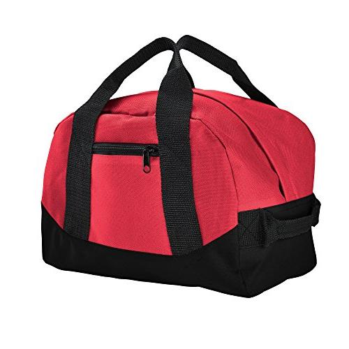 mini two tone duffle bag