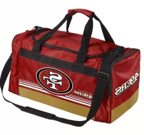 NFL San Francisco 49ers Gym Travel Luggage Striped Core Duff
