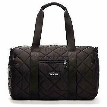 nwt black quilted 16 gym bag