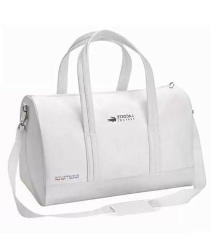 parfums white weekender gym sports polyester duffle