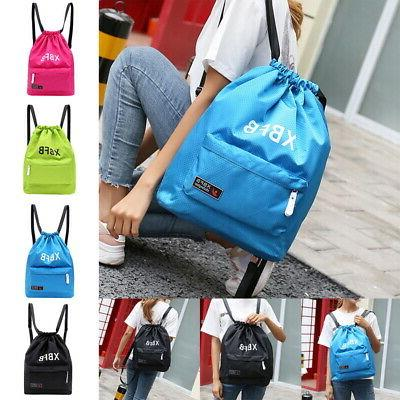 US Unisex Portable Backpack Waterproof Gym Beach Drawstring