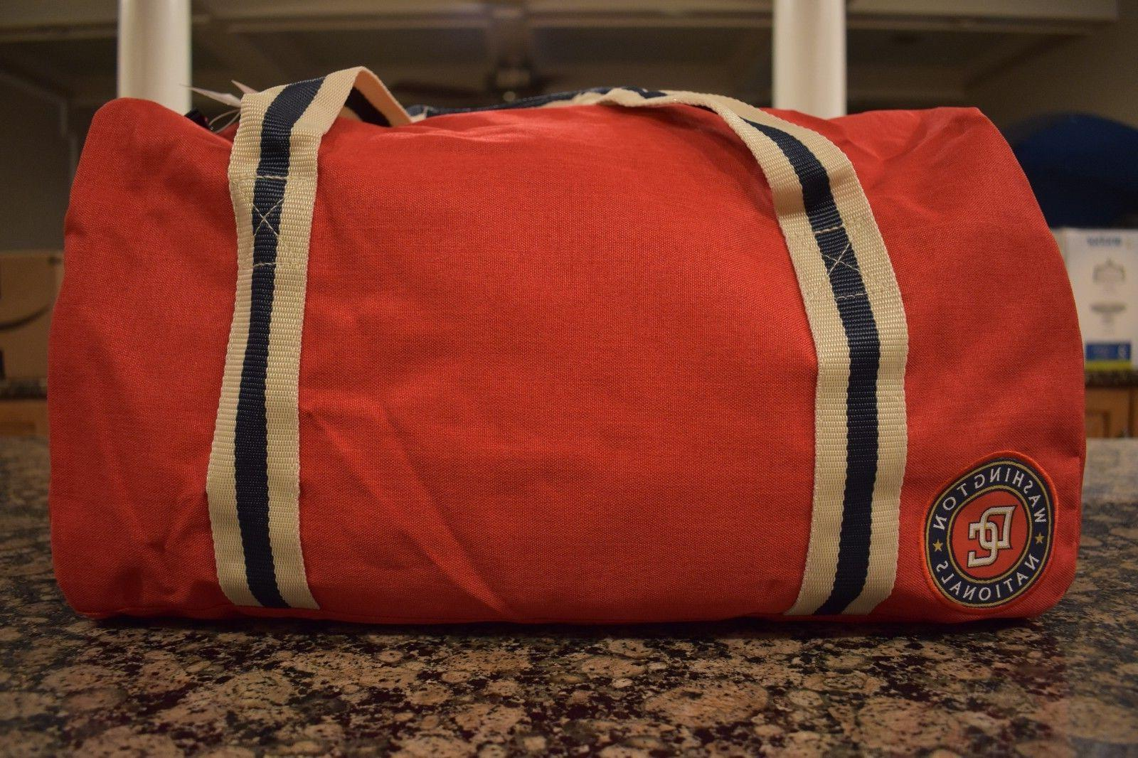 New Small Duffel Washington Nationals MLB NWT Heritage Patch