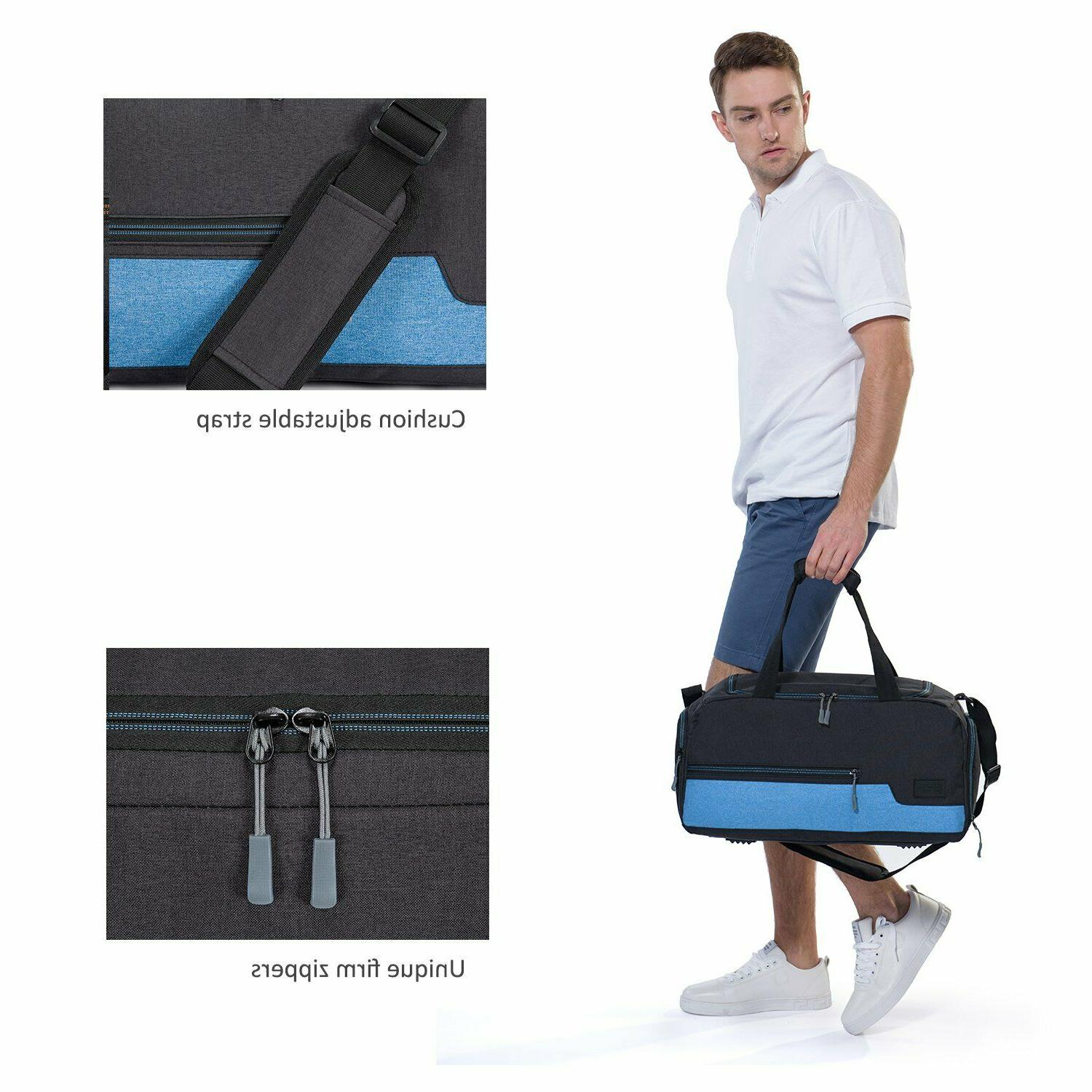 Sports Gym Bag Travel With Shoe Compartment