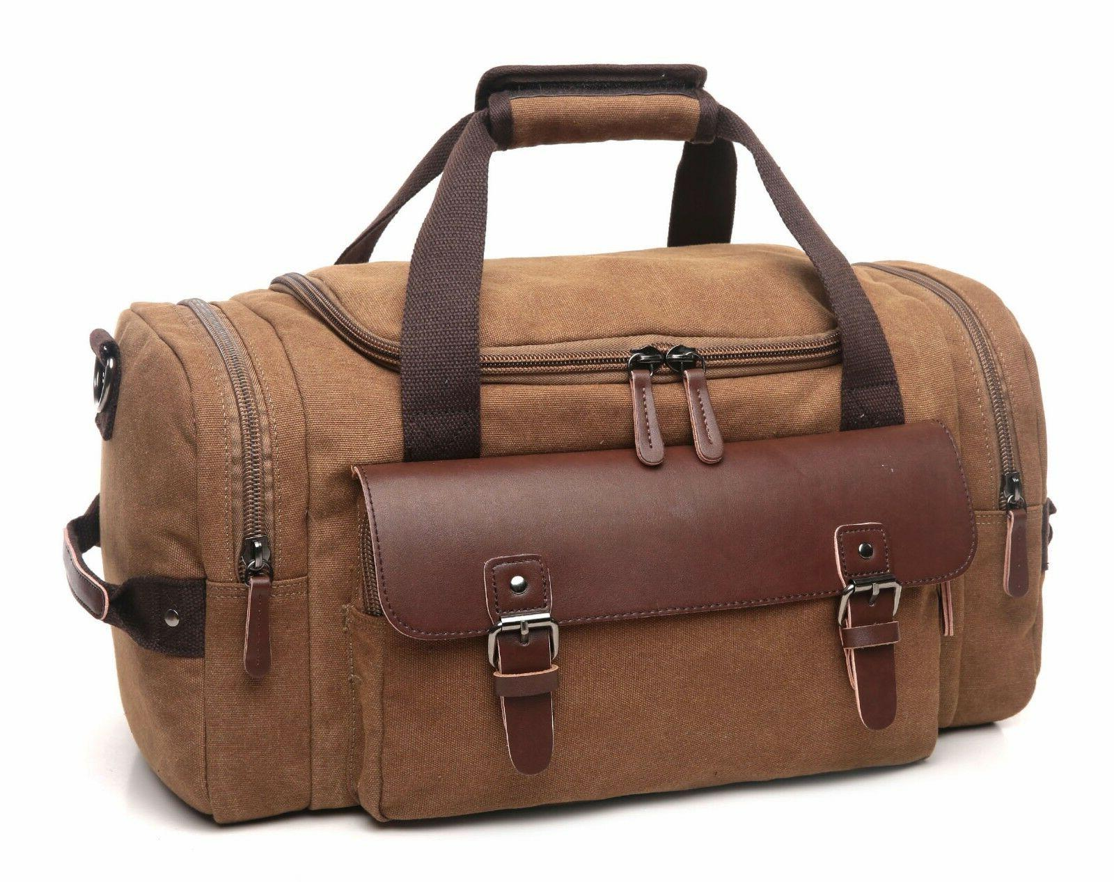 CrossLandy Travel Leather Bag Carry Luggage