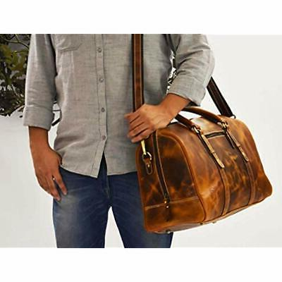 Travel Duffels Leather Duffle Bag Gym Airplane Luggage Carry-On