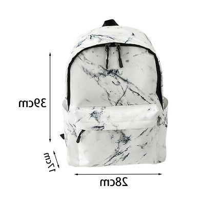 Travel Backpack Marble Lightweight Large Capacity