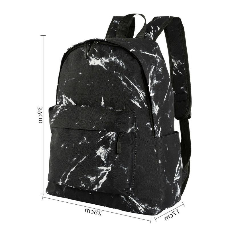 Travel Ergonomic Marble Print Portable Backpack