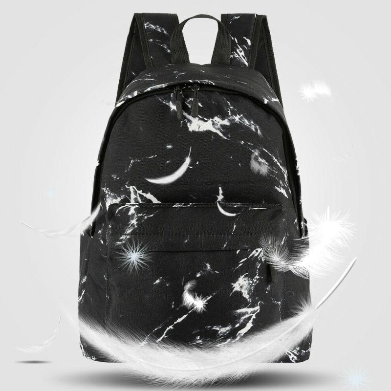 Travel Bag Ergonomic Marble Print Backpack