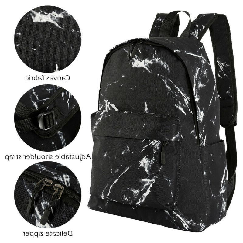 Travel School Bag Marble Portable Gym Backpack Large