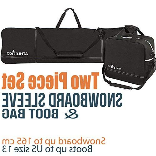 two snowboard boot bag combo