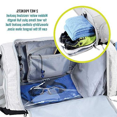 Ultimate Gym The Crowdsource Duffel Optimal Compartments Resistant Pouch