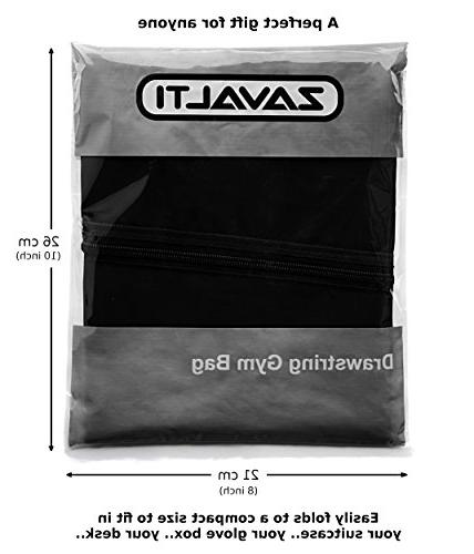 Zavalti Very Quality Drawstring Gym Bag Adults Children. NO Kids PE Perfect Sports, Beach Holidays, Swimming,