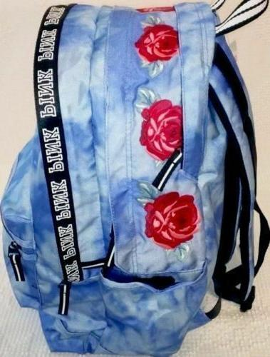 VICTORIA'S PINK DYE ROSES CAMPUS BACKPACK SCHOOL