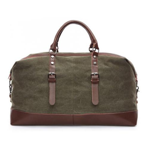 Vintage Men Duffle Bag Gym Handbag Shoulder Luggage