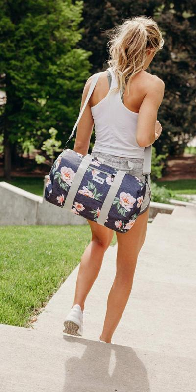 Vooray Roadie Gym Bag, Rose Floral