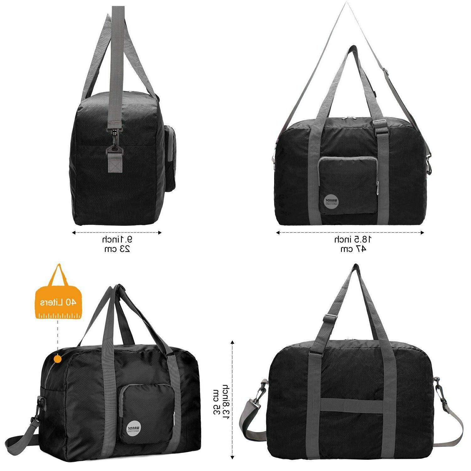 Wandf Foldable Bag Luggage Sports Water Nylon