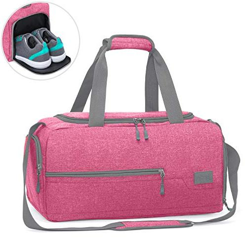 MarsBro Sports Gym Bag Compartment Pink