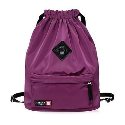 Waterproof Drawstring Bag, Gym Bag Sackpack Sports Backpack
