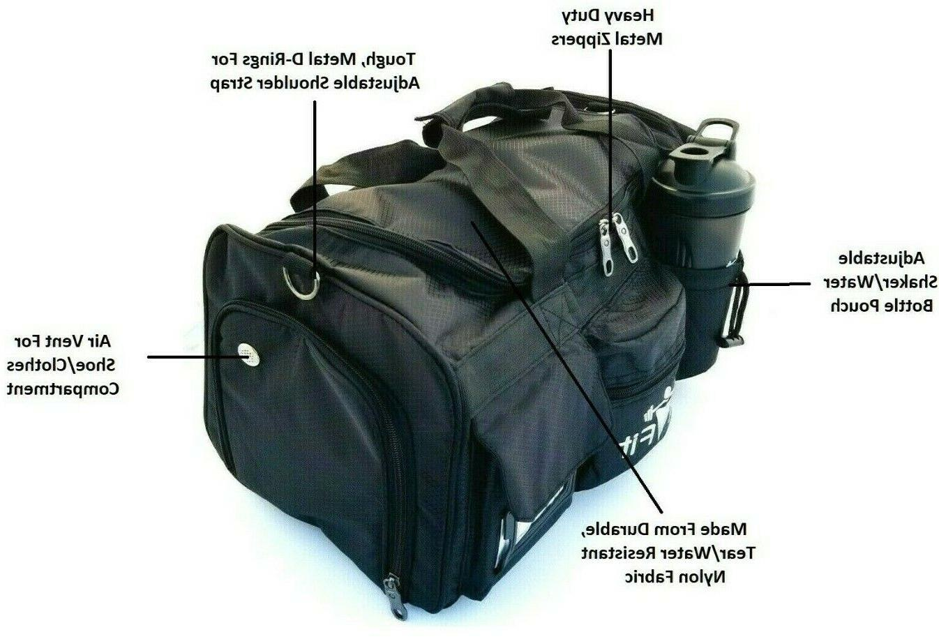 LT Weight Lifting Duffle Sport Gym With Strap