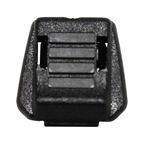 SGT Zipcord Black Plastic Toggle - for Luggage, Clothing,