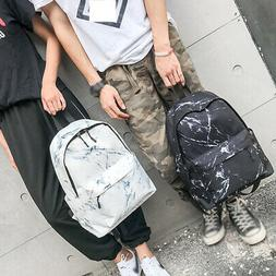 travel gym backpack casual marble print school