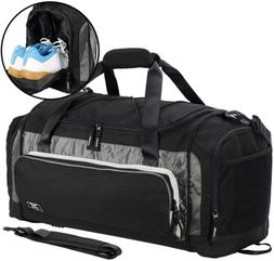 MIER Large Duffel Bag Men's Gym Bag with Shoe Compartment, 6